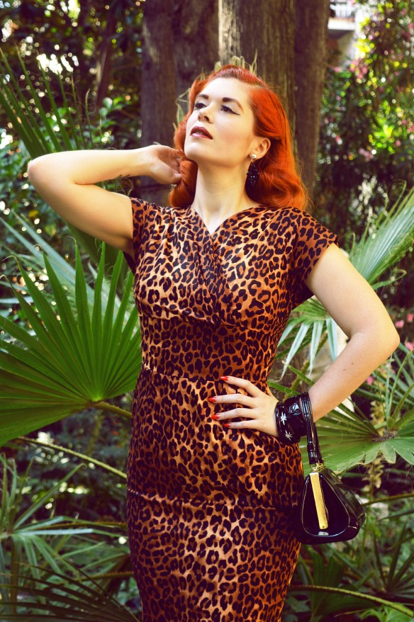 leopard dress vivien of holloway miss sixties twist in barcelona